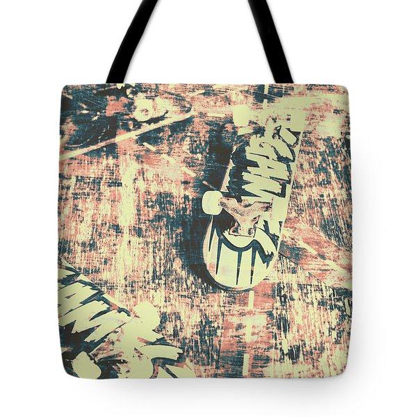 Grunge Skateboard Poster Art Tote Bag