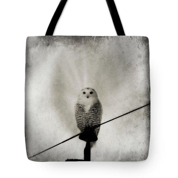 Grunge Snowy Tote Bag