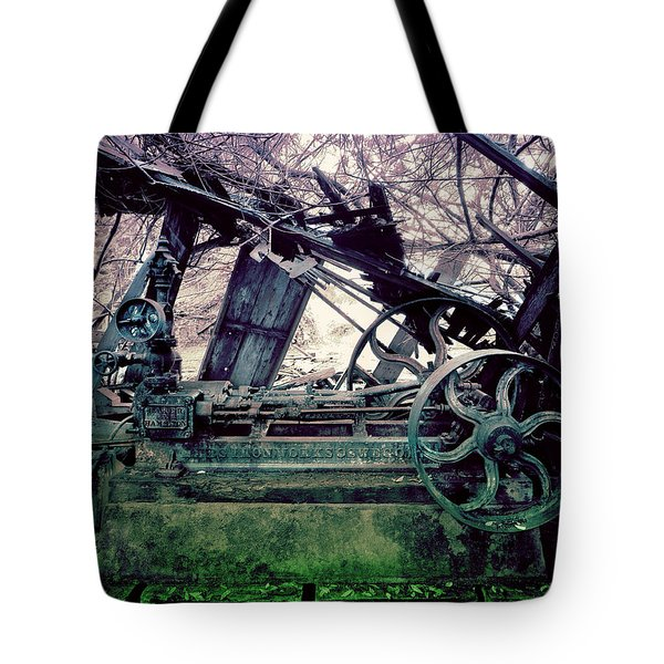 Grunge Steam Engine Tote Bag