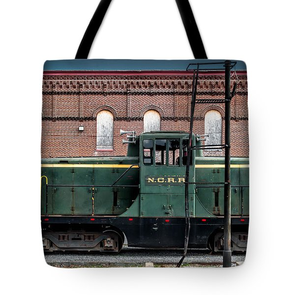 Grunge Train And Station Tote Bag