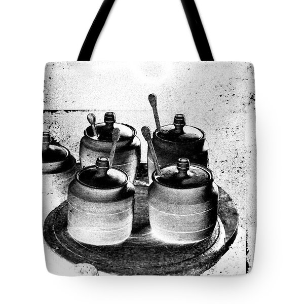 Honey Jars Tote Bag by Don Gradner