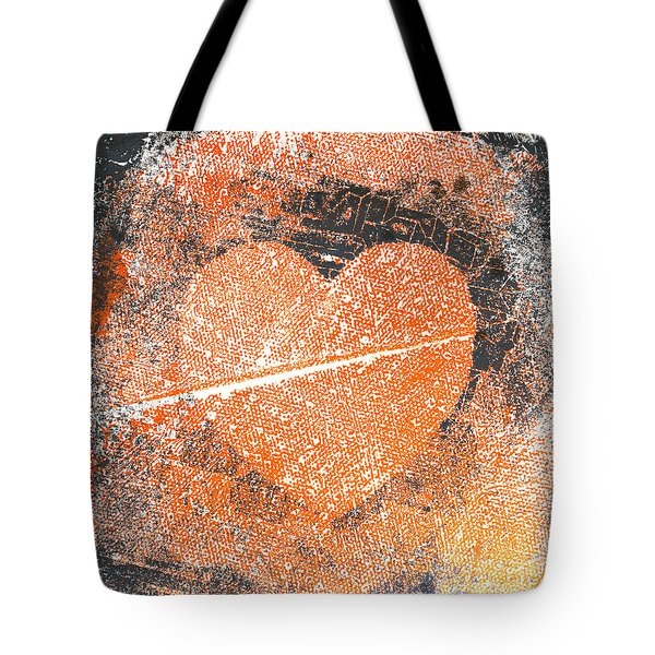 Grungy Heart  Tote Bag
