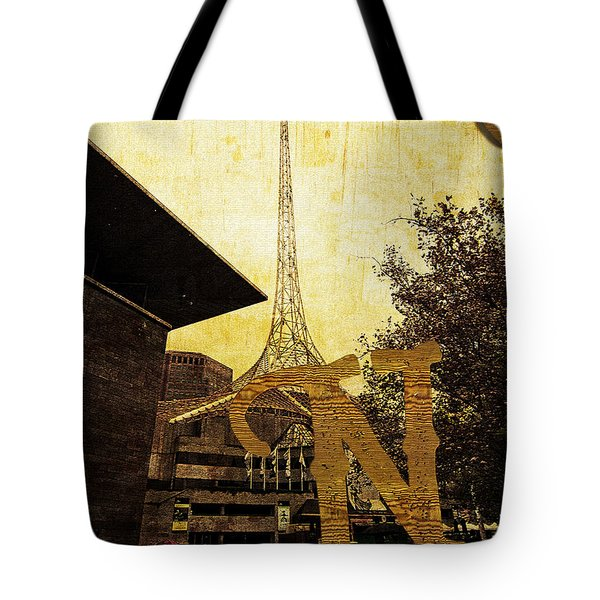 Grungy Melbourne Australia Alphabet Series Letter N National Gal Tote Bag