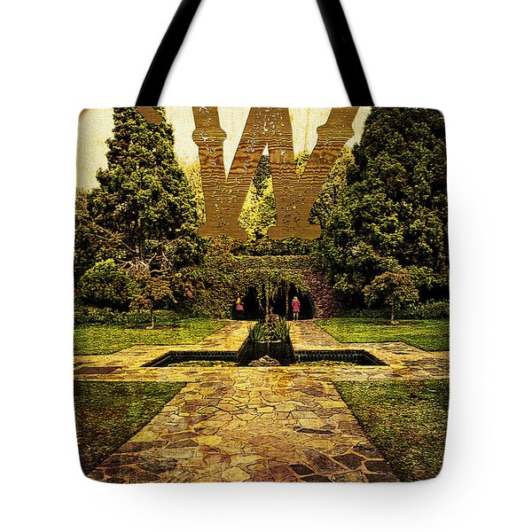 Grungy Melbourne Australia Alphabet Series Letter W Pioneer Wome Tote Bag