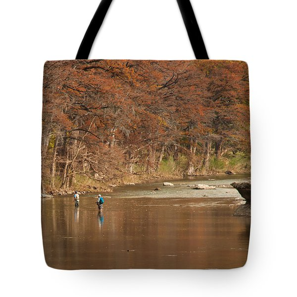Guadalupe River Fly Fishing Tote Bag