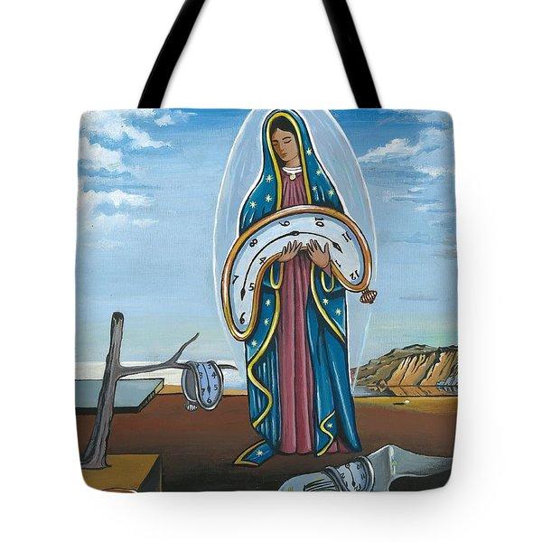 Guadalupe Visits Dali Tote Bag by James Roderick