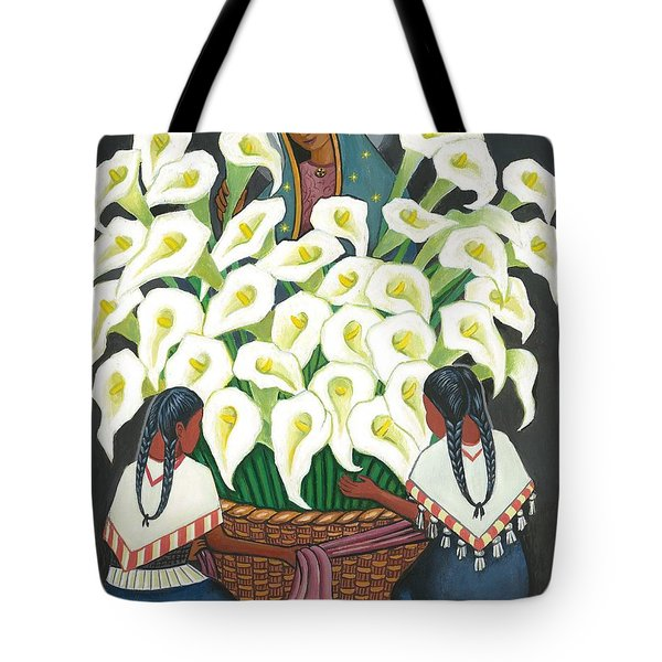Guadalupe Visits Diego Rivera Tote Bag