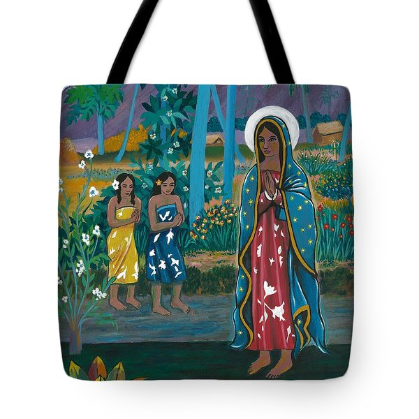 Guadalupe Visits Gauguin Tote Bag by James Roderick