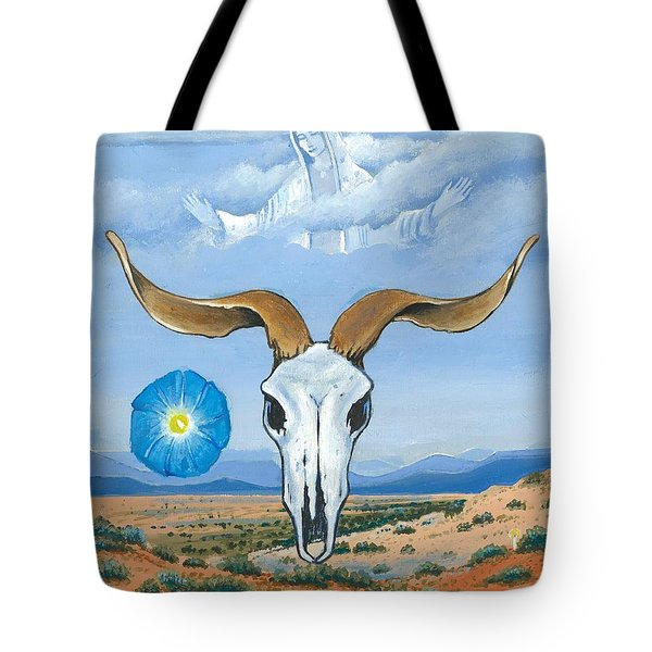 Guadalupe Visits Georgia O'keeffe Tote Bag by James Roderick