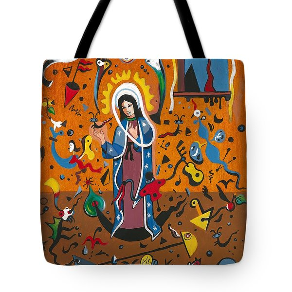 Guadalupe Visits Miro Tote Bag by James Roderick