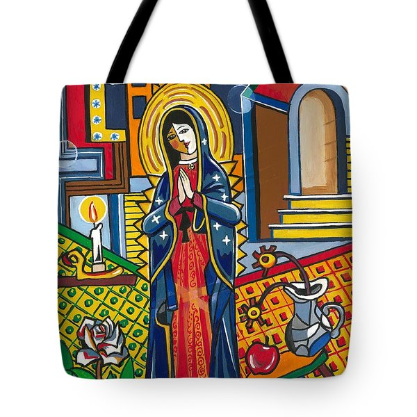 Guadalupe Visits Picasso Tote Bag