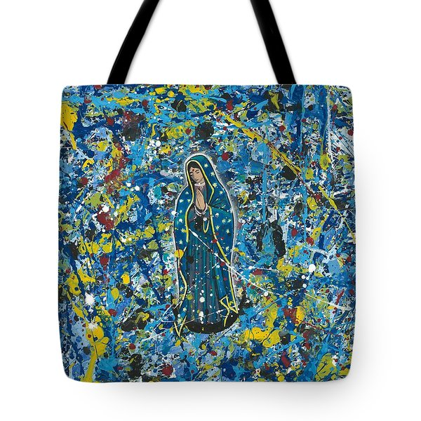Guadalupe Visits Pollack Tote Bag by James Roderick