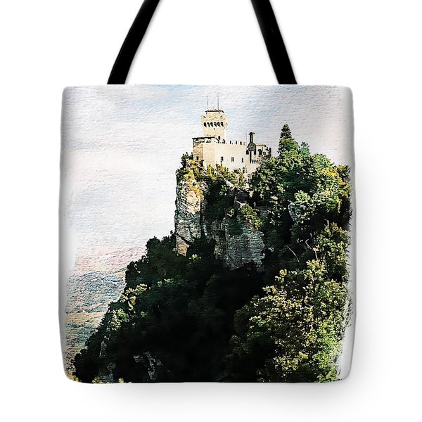 Guaita Castle Fortress Tote Bag by Joseph Hendrix