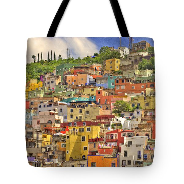 Guanajuato Hillside Tote Bag by Juli Scalzi