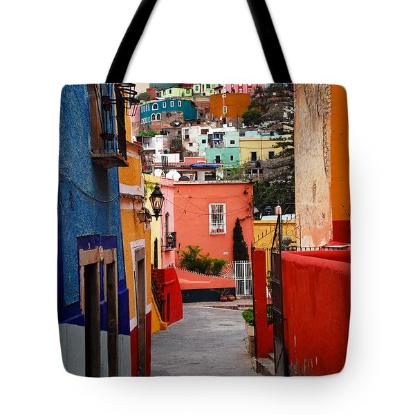 Tote Bag featuring the photograph Guanajuato Lane by Skip Hunt