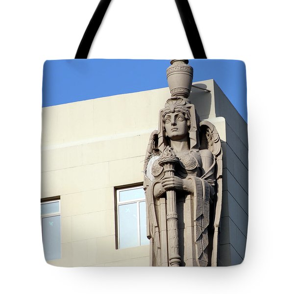 Guardian Angel And Blue Tote Bag