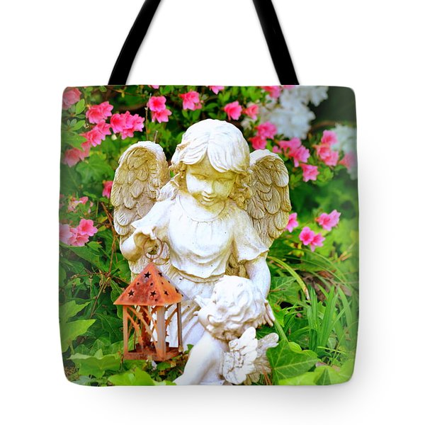 Tote Bag featuring the photograph Guardian Angel by Lisa Wooten