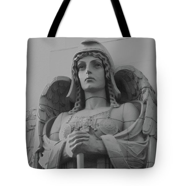 Guardian Angel On Watch Tote Bag