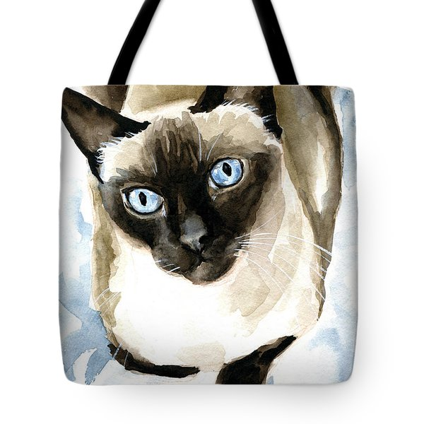 Guardian Angel - Siamese Cat Portrait Tote Bag