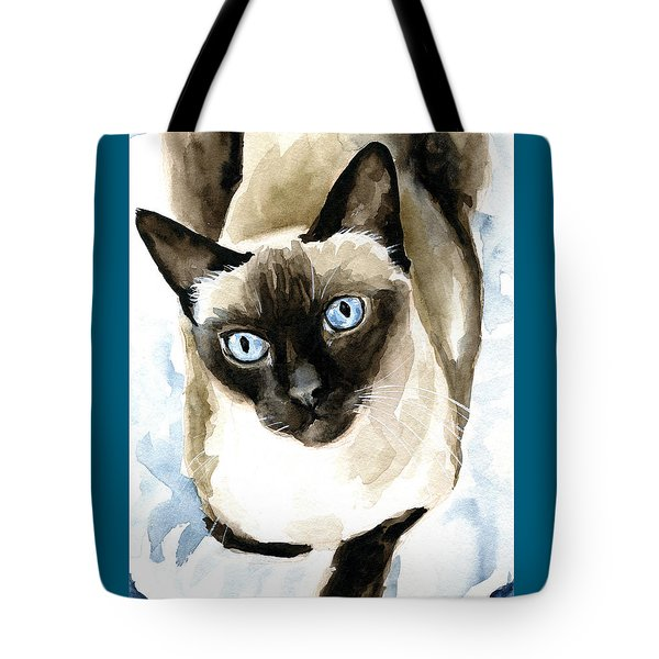 Guardian Angel - Siamese Cat Portrait Tote Bag