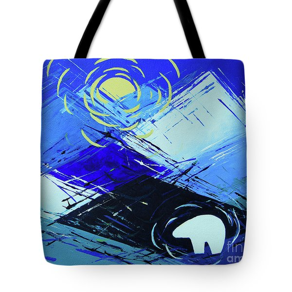 Guardian Bear Winter Tote Bag by Jeanette French