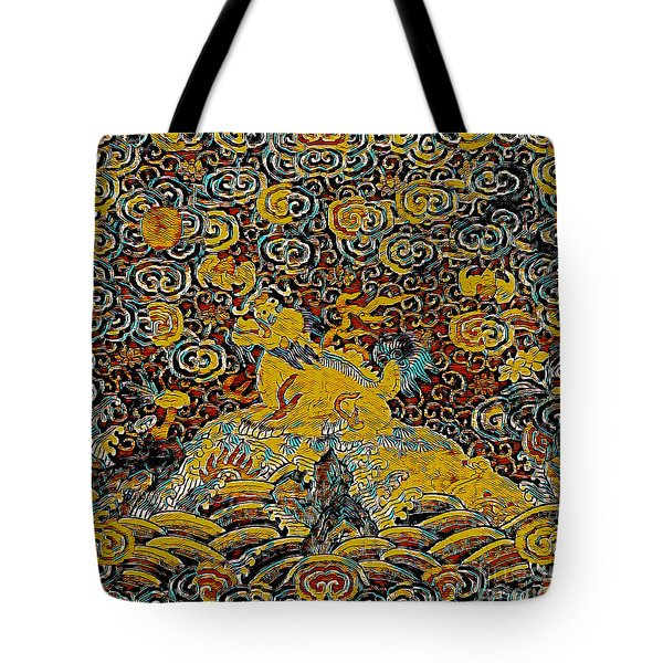 Tote Bag featuring the mixed media Guardian Of The Temple by Lita Kelley