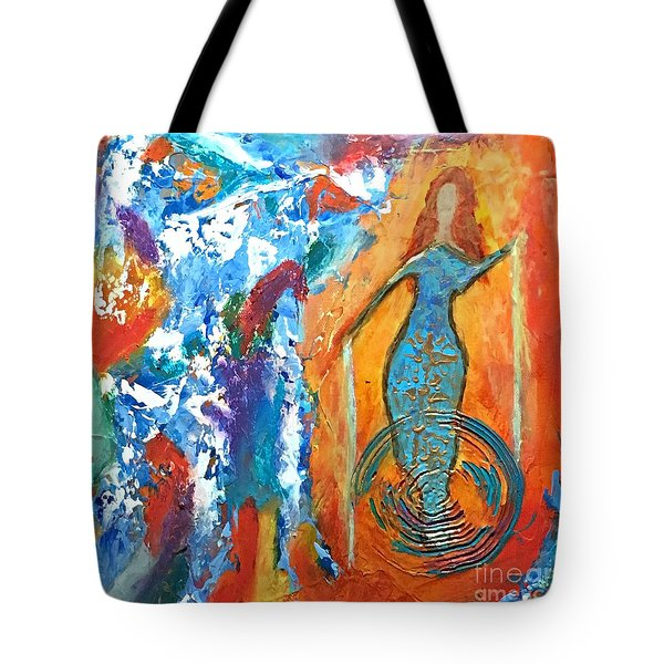 Guardian Of Rainbow Light Tote Bag