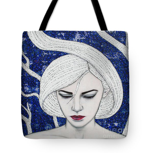 Tote Bag featuring the mixed media Guardian Of The Night by Natalie Briney