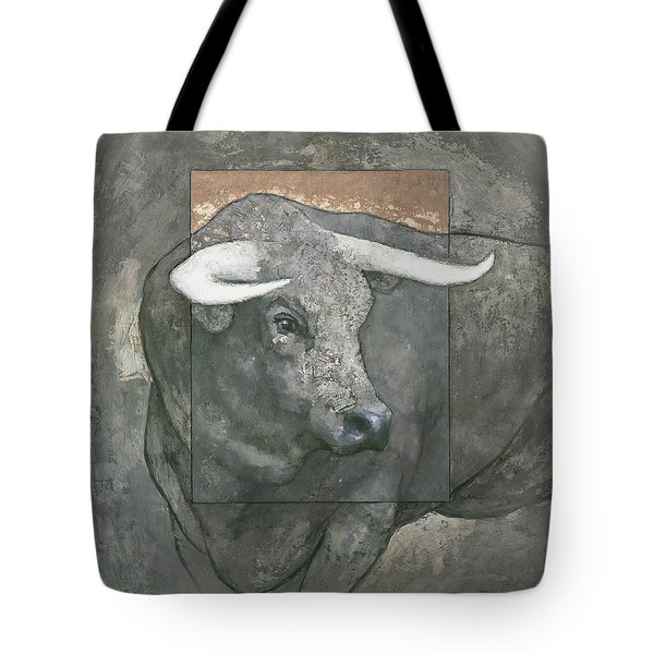 Tote Bag featuring the painting Guardian by Steve Mitchell