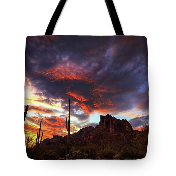 Guardians Of The Mountain Tote Bag