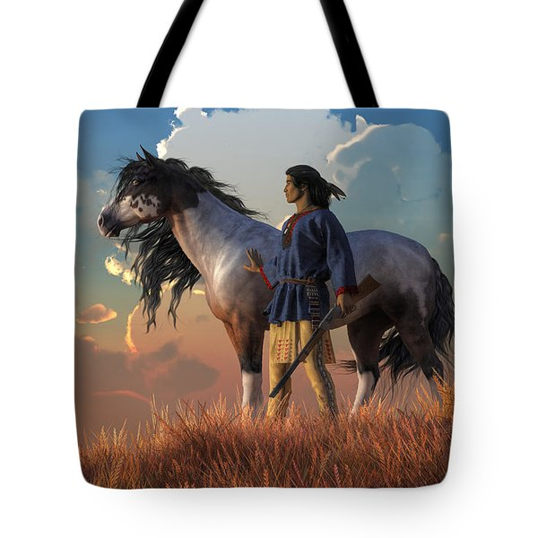 Tote Bag featuring the digital art Guardians Of The Plains by Daniel Eskridge