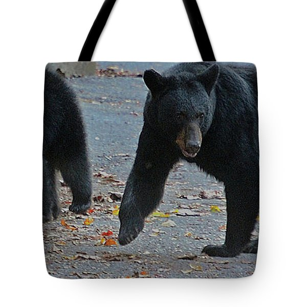 Guarding Her Cubs Tote Bag by DigiArt Diaries by Vicky B Fuller