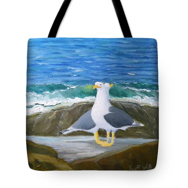 Guarding The Land And Sea Tote Bag