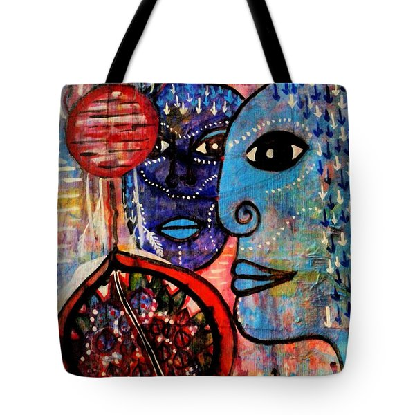 Tote Bag featuring the painting Guarding The Pomegranate by Mimulux patricia no No