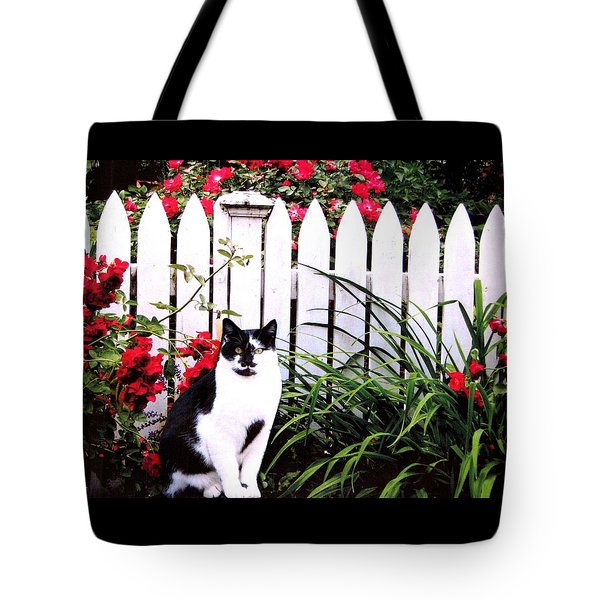 Guarding The Rose Garden Tote Bag by Angela Davies