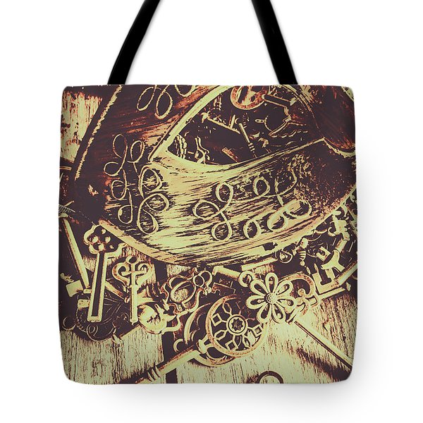 Guarding The Secrets Of Society Tote Bag