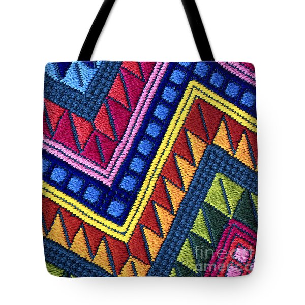 Guatemala Colorful Abstract Photograph - Guatemalan Diamonds  Tote Bag