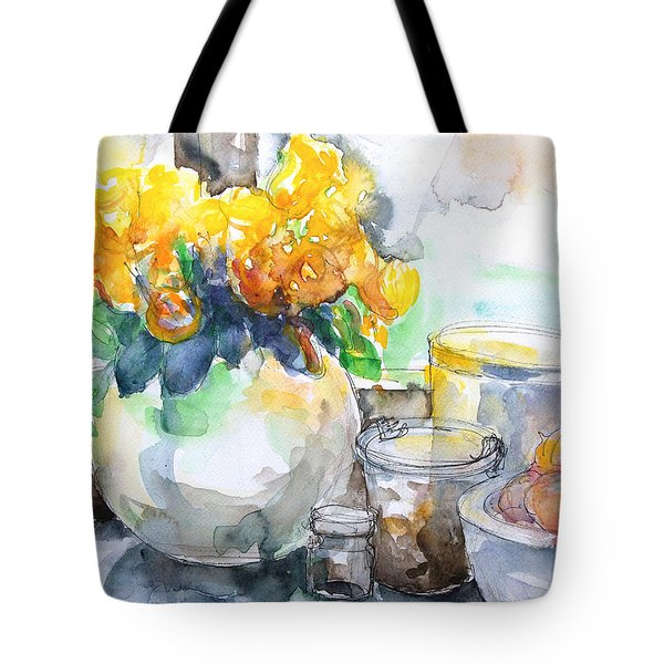 Gudrun's Kitchen Window Tote Bag by Barbara Pommerenke