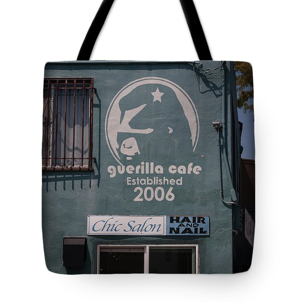 Guerilla Cafe - Chic Hair And Nails Tote Bag