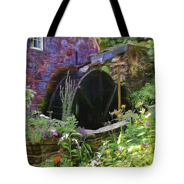 Guernsey Moulin Or Waterwheel Tote Bag