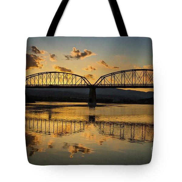 Guffey Bridge At Sunset Idaho Journey Landscape Photography By Kaylyn Franks Tote Bag