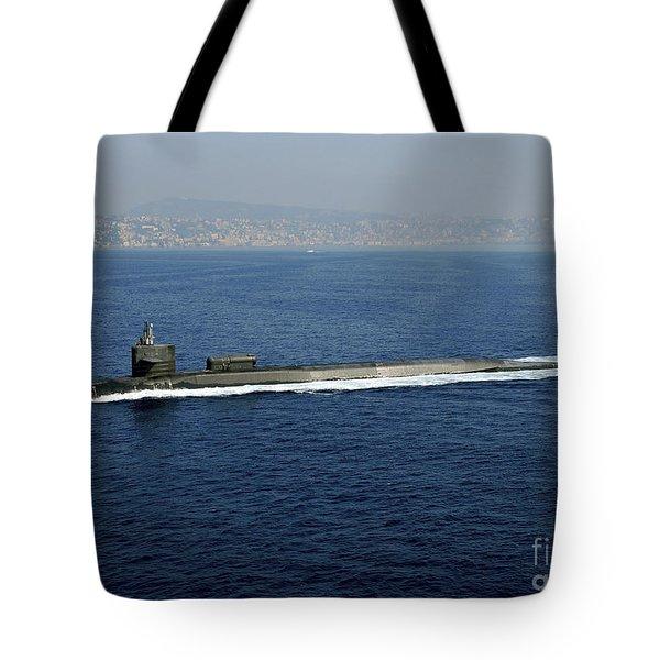 Guided-missile Submarine Uss Georgia Tote Bag