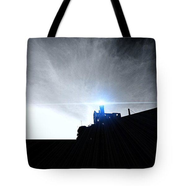 Guiding Light-alcatraz Tote Bag by Douglas Barnard
