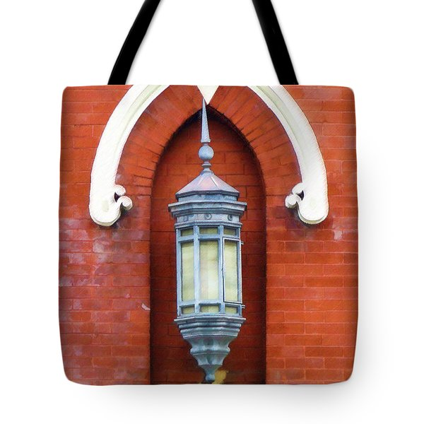 Guiding Light At The Mother Church Tote Bag by Sandy MacGowan