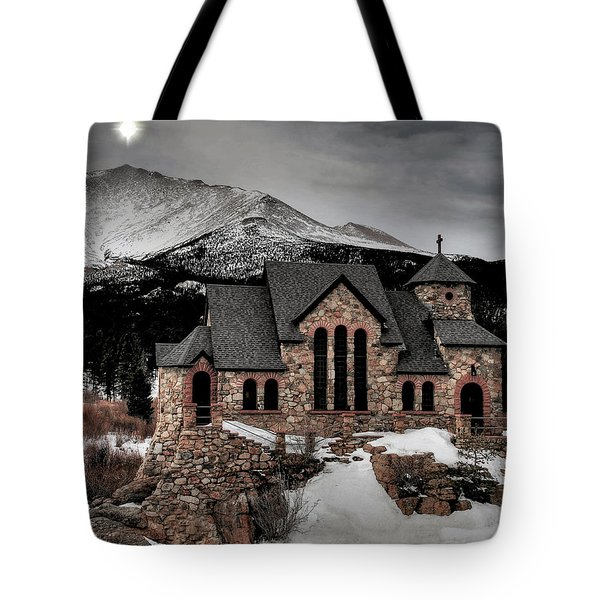 Guiding Light Over Saint Malo Tote Bag by Stephen  Johnson
