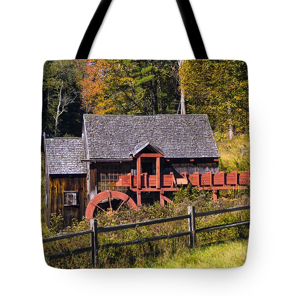 Guildhall Grist Mill In Fall Colors. Tote Bag