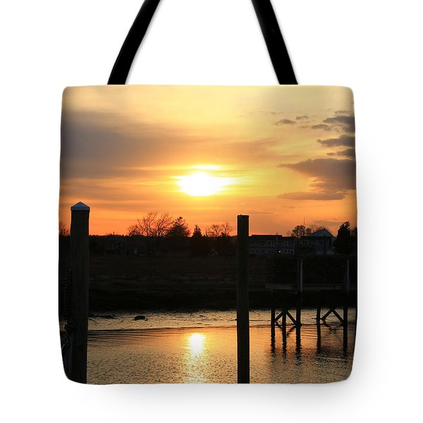 Guilford Low Tide Tote Bag by Catie Canetti