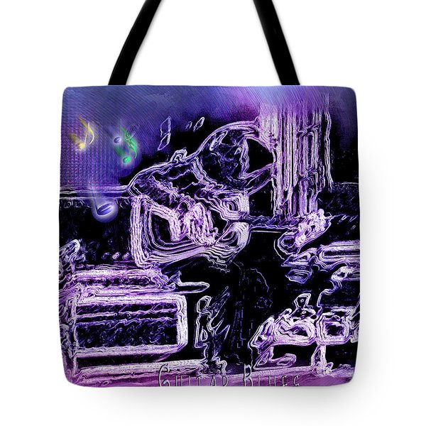 Tote Bag featuring the photograph Guitar Blues by Susan Kinney