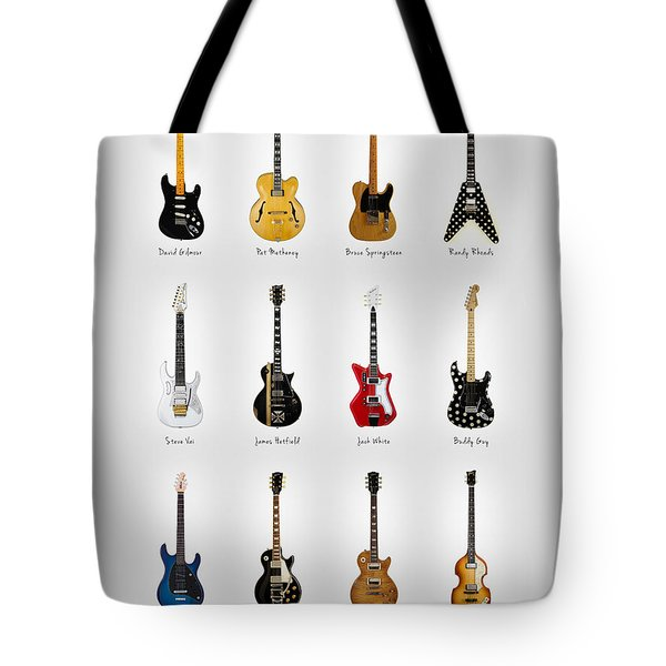 Guitar Icons No2 Tote Bag by Mark Rogan