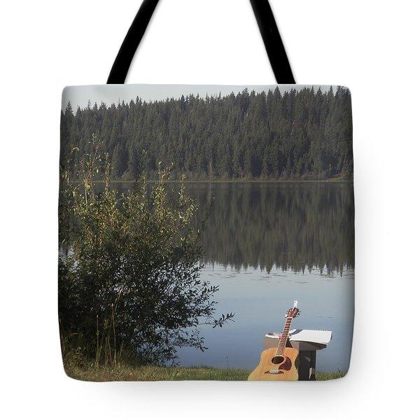 Guitar Lake Tote Bag
